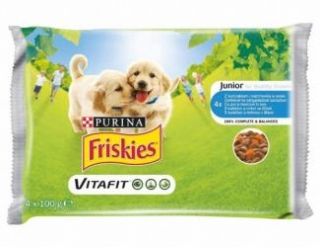 NES.Friskies kap.junior 4x100g (13ks/bal)